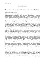 ethics and news values essay callum harrison ethics and news values i am going to be writing an essay for part