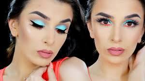 summer aqua makeup tutorial maria yeager
