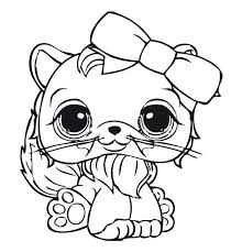 Cute Cat Littlest Pet Shop Coloring Pages Free Coloring Sheets