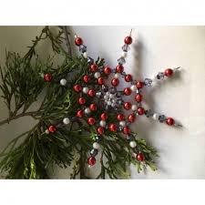 Weihnachtsdeko Stern Rot Grau Weiß
