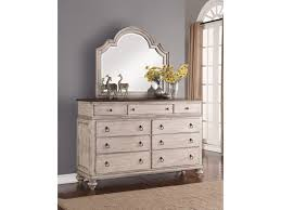 Flexsteel Wynwood Collection Plymouth Cottage Dresser and Mirror Combo with  9-Drawers
