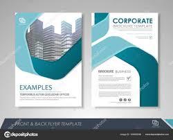 Brochures And Flyers Template Design Stock Vector Stekloduv