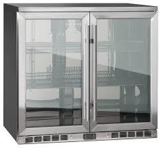2 door front venting full stainless steel bar fridge