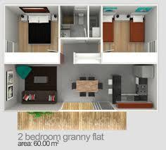 Two Bedroom Granny Flat Designs  Plans Granny Flats Sydney - Interior designing of bedroom 2