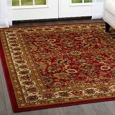 red oriental area rug persian style fl vines oval round carpet runner