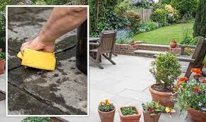 clean a patio without a pressure washer