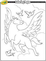 Pegasus On Crayolacom Hay Hay Unicorn Coloring Pages Crayola