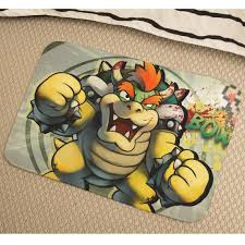 image is loading super mario bros bowser soft absorbent non slip