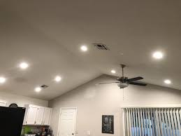 Replace Ceiling Fan With Recessed Light 8x New 6 Inch 800 Lumen Leds On 2x New 3 Way Switches