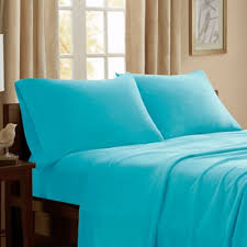 Peak Performance 3M Scotchgard Microfleece Twin Sheet Set in Aqua