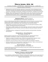 Resume Example Sample Resume For Nurses With Experience Resume