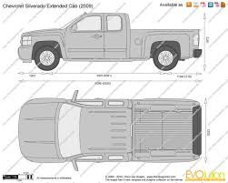 The-Blueprints.com - Vector Drawing - Chevrolet Silverado Extended Cab
