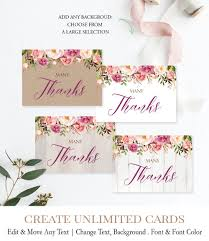 Printable Thank You Cards Wood Floral Baby Shower Thank You Card Printable Thank Yous Pink Flowers Baby Girl Thankyou N6