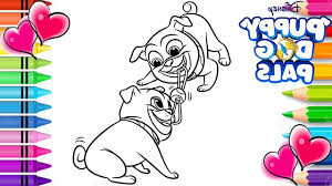 Coloring Bingo Ra3m Bingo And Rolly Tug Of War Coloring Page Puppy