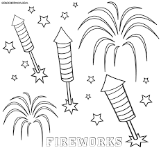 Mickey Mouse Fireworks Coloring Pages For Kids Printable Free Best ...
