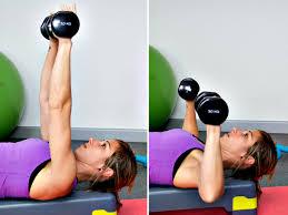 Resultado de imagen para pesas en el suelo ejercicios