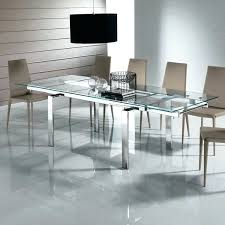 glass dining table modern expandable glass dining table with metal legs for popular dining room ideas