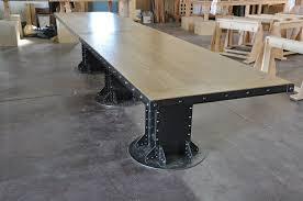 vintage industrial furniture tables design. Beautiful Vintage Conference Table I Beam  Industrial And Beams Vintage Industrial Furniture Tables Design E