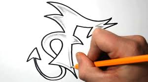 ... Graffiti Letter E Simple Sketch How To Draw Graffiti Letters  F ...