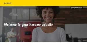 Resume Website Templates Godaddy