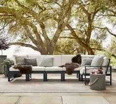 indio metal outdoor sectional set