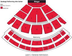 Sheas Performing Arts Seating Chart 70 Explicit Saratoga Performing Arts Center Lawn Seats