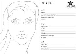 Blank Make Up Face Chart Visage Royal
