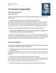 tim burton essay x the corpse bride ms paine`s classroom