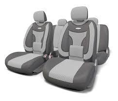 <b>Чехлы на сиденья</b> Autoprofi Extra Comfort велюр <b>темно</b>-серый ...