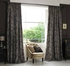 image of pattern grey curtains for bedroom