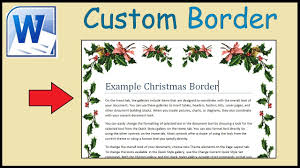 How To Create Your Own Custom Border In Word