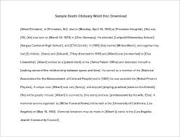 sample of obituary free obituary templates 13 free word excel pdf format