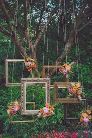 45 inspirational boho wedding decor ideas fl framed photo props chwv