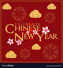 Celebrate Chinese New Year Card Minimal Design