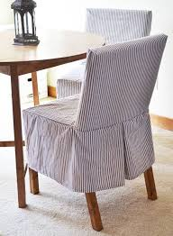 image of easiest parson chair slipcovers
