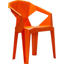3d stacking plastic outdoor dining chair 2 chairs included in orange