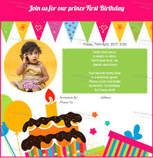 first birthday invitation wording and card sle