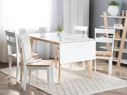 Dining Table Rubber Wood 120 Cm White Cason
