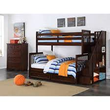 kids bunk bed. Caramia Kids Zachary 2-piece Twin Over Full Staircase Bunk Bed Set