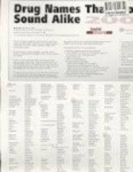 Drug Names That Look Alike And Sound Alike Hospital Pharmacy