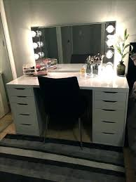 diy makeup vanity mirror. Diy Makeup Vanity Ikea Mirror Hack  Drawers With A Glossy Laminate . R