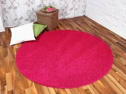 Hochflor Shaggy Teppich Prestige Pink Rund In 7 Größen Teppiche