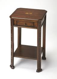 Cherry accent table Round Accent National Furniture Supply Butler Moyer Plantation Cherry Accent Table 1486024