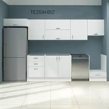 Ikinci el mutfak dolapları, ölçümler açısından önerilen tüm standartlara sıkı bir şekilde uyulması sağlanarak yüksek düzeyde düzenlenmiştir. Fly Minel Tezgahsiz Mutfak Dolabi 350 Cm Tekzen