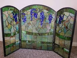dorwards stained leaded glass fire screen surround