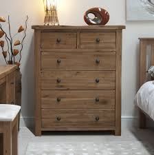 rustic solid oak  drawer chest  oak furniture uk