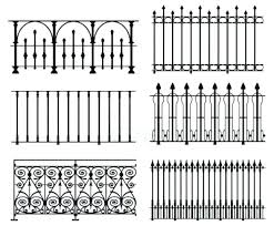 simple wrought iron fence. White Wrought Iron Fence Designs Panels  Corrugated House Simple