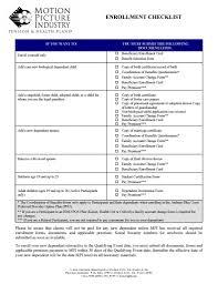 Enrollment Checklist Form Animation Guild