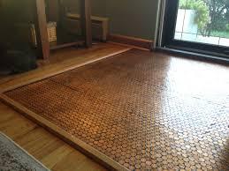 Penny Kitchen Floor Copper Penny Floor Part 4 Of 4 Sealing The Floor Pennyfloor