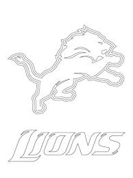 Small Picture Detroit Lions Logo coloring page Free Printable Coloring Pages